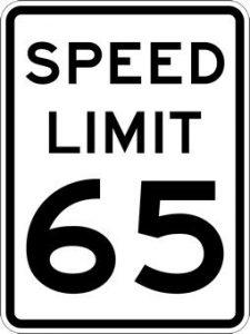 amerykański znak ograniczenia prędkości